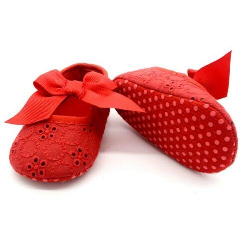 Newborn Baby Boy Girl Soft Sole Crib Shoes Anti-slip Sneakers Prewalker Shoes DE