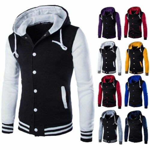 Men/'s Winter Hoodie Outwear Sweater Warm Coat Baseball Jacket Hooded Sweatshirt