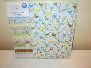 DOODLEBUG DESIGN 12 X 12 PAPER PLUS PACK BABY BOY ASSORTMENT 8 PACK & STICKERS