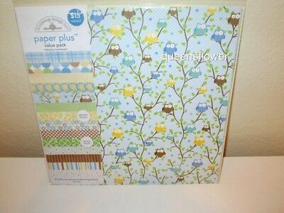 "Doodlebug PPAP-5184  Paper Plus Value Pack 12/""X12/"" 8//Pkg-Baby Girl"