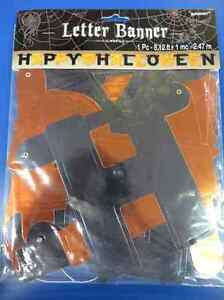 Happy Halloween Black Orange Carnival Party Decoration Jointed Letter Banner