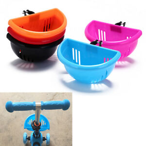 children/'s bike basket plastic bicycle bag kids scooter handle bar basket FE