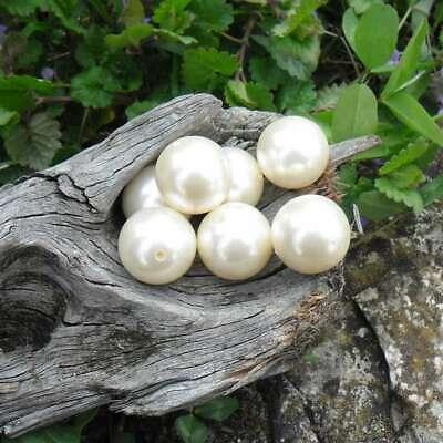 15 Perles Résine Palet ovale bombé imitation bois