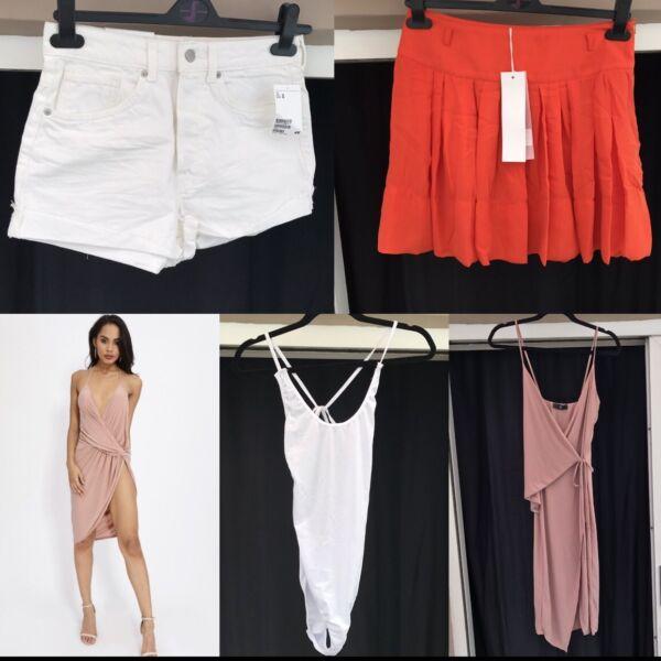 100% De Calidad Bnwt Talla 10 Paquete Missguided La Vi Primero H&m Vestido Pantalones Cortos De Mezclilla Cuerpo Suit-ver Materiales Cuidadosamente Seleccionados
