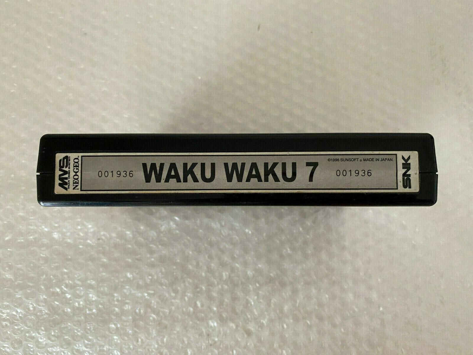 Snk Neo Geo WAKU WAKU 7 Mvs Hollographic Label Nmint condition 100% original