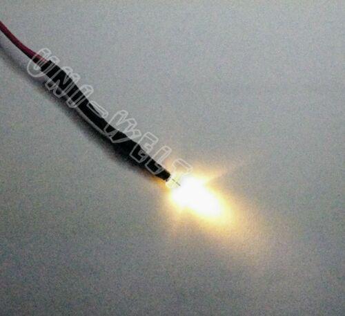 10x 3mm LED's bianco caldo 12v con vorwiderstand finito cablato illuminazione luce