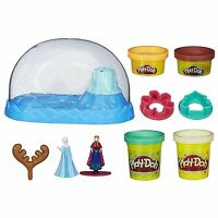 Play-doh Disney Frozen Sparkle Snow Dome Set With Elsa And Anna , New, Free Ship on sale