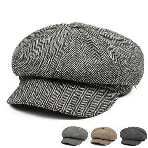 Hombres-Boina-Herringbone-noticiero-Ivy-Tapa-Bunnet-taxista-Gatsby-Sombrero-TR-Golf-Tweed
