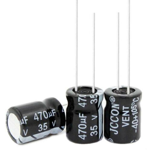 35V 470uF Radial Electrolytic Capacitors 105°C 10x13mm Tolerance ±20/% Pitch 5mm