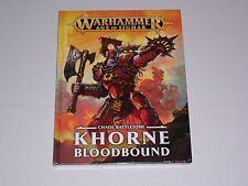 WARHAMMER AGE OF Sigmar Khorne bloodbound Caos battletome NUOVO