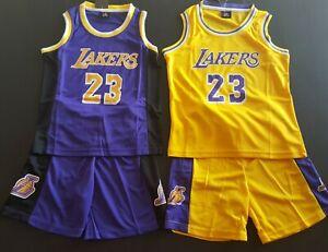 Kids Basketball Los Angeles LA Lebron James 23 Jersey Sports ...