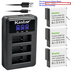 Kastar-Battery-LCD-Triple-USB-Charger-for-GoPro-AHDBT-601-GoPro-Hero-6-HD-Black