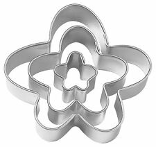 Wilton 3 Set FUNNY FLOWER Cookie Icing Fondant Cutters Cut-Outs Cake Decoration