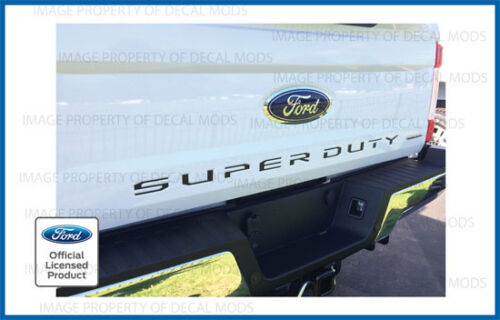 2019 Ford F250 Super Duty Tailgate Letters Decals Stickers MATTE BLACK blackout