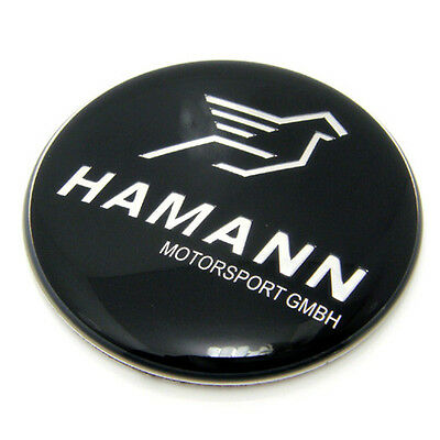 45mm HAMANN Black BMW Car Steering Wheel Emblem Badge Logo Sticker Crystal Epoxy