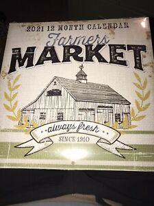 """2021 """"Farmer's MARKET"""" Calendar - Dollar Tree Farmhouse ..."""