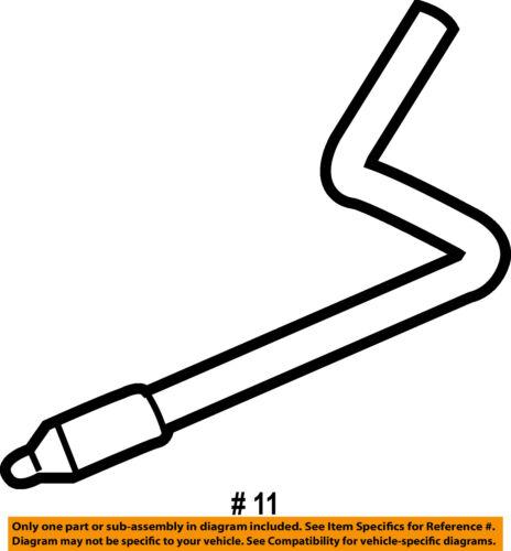 GM OEM Wiper Washer-Windshield-Tube 12463086