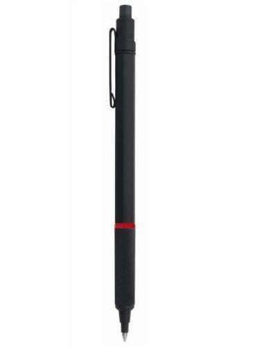 Rotring Rapid Pro Black Metal  Ballpoint Pen Hexagonal Knurled Grip New In Box *