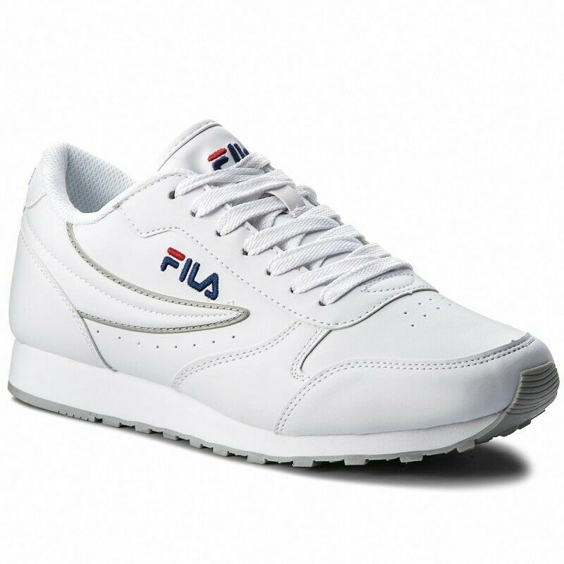 MEN'S SHOES SNEAKERS FILA ORBIT LOW WHITE MODE FREE TIME ECO-LEATHER