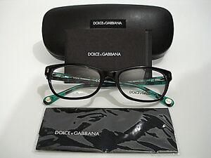 bf2b9c4ede Dolce   Gabbana DD 1205 DG1205 1826 Black Green Eyeglasses Rx-Able ...