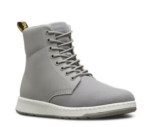 Mens-Doc-Dr-Martens-Mesh-Rigal-Grey-Leather-8-Eyelet-Eye-Boots-Calf-Boot-9-10