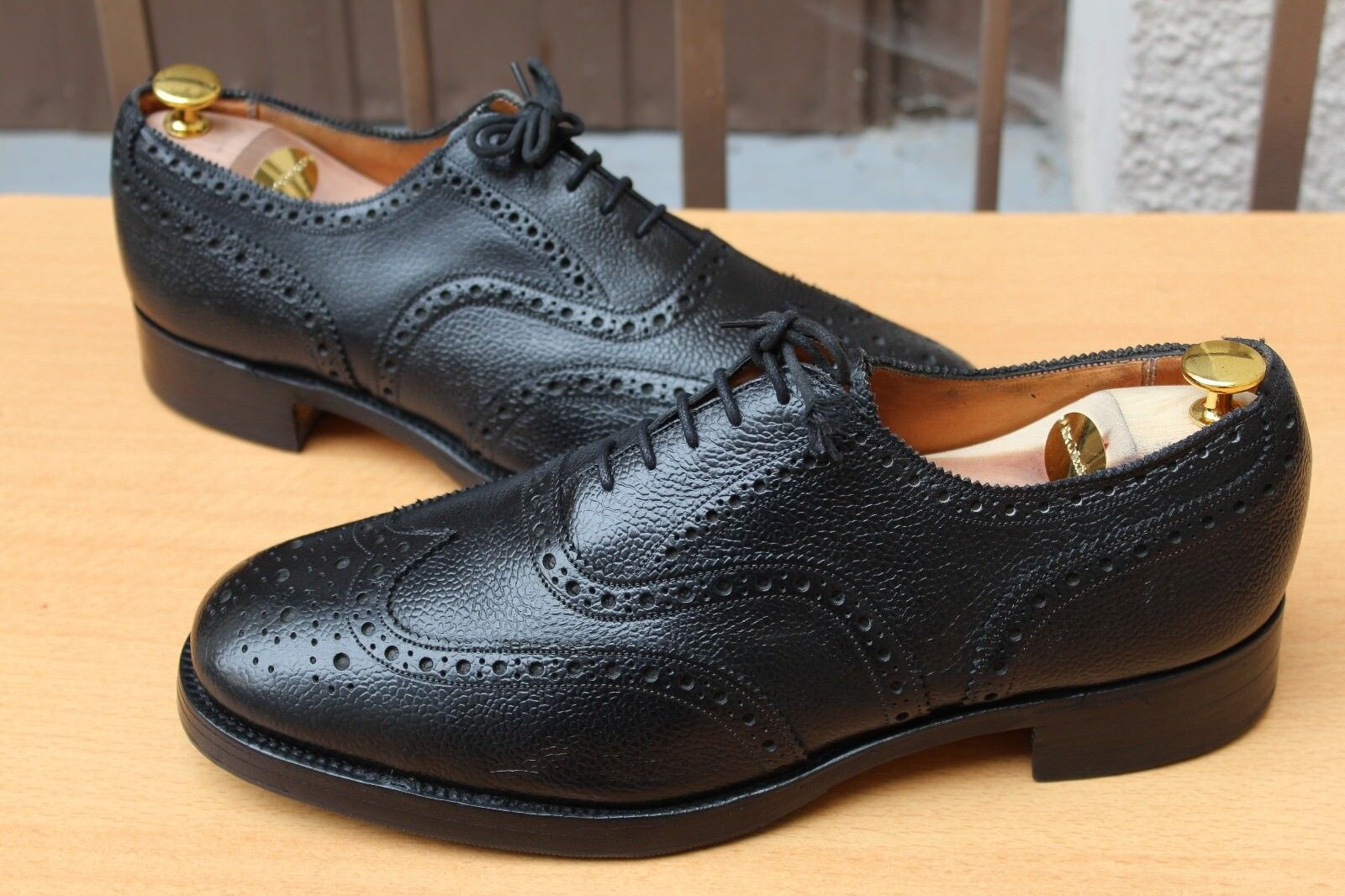 Chaussures SANDERS RICHELIEU CUIR GRAINE 11 UK  45  ETAT NEUVE chaussures 289 EUROS