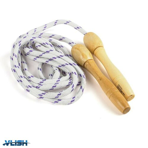 Wooden Handle Skipping Rope for Kids... Vlish 3 Pack Fitness Jump Rope 7 Foot