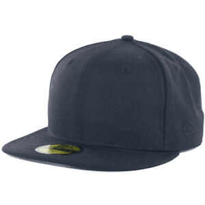 New Era Plain Tonal 59Fifty Fitted Hat (Dark Navy Blue) Men s Blank ... edeb2cd4113