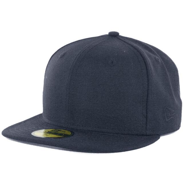 7bbc7e322 New Era Plain Tonal 59Fifty Fitted Hat (Dark Navy Blue) Men's Blank Cap