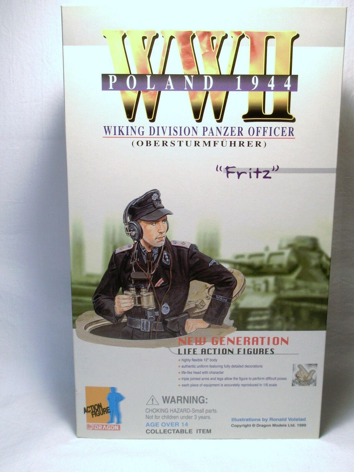 DRAGON WWII POLAND 1944 FRITZ WIKING PANZER OFFICER EXCLUSIVE NIB