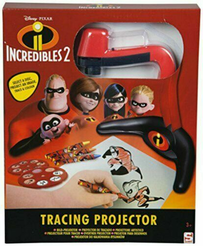 NEW DISNEY PIXAR INCREDIBLES 2 TRACING PROJECTOR RED