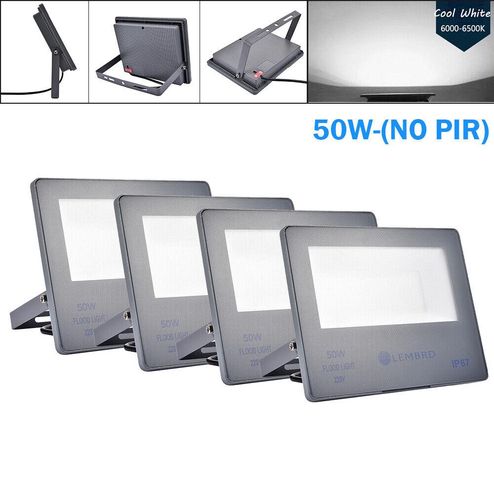 4x 50W LED Reflector blancoo frío Lámpara de jardín al aire libre de lembrd seucrity Luces IP67