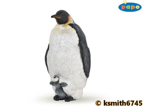 Papo Pinguino imperatore /& CHICK solido in plastica giocattolo Wild Zoo Animale Marino Mare NUOVO