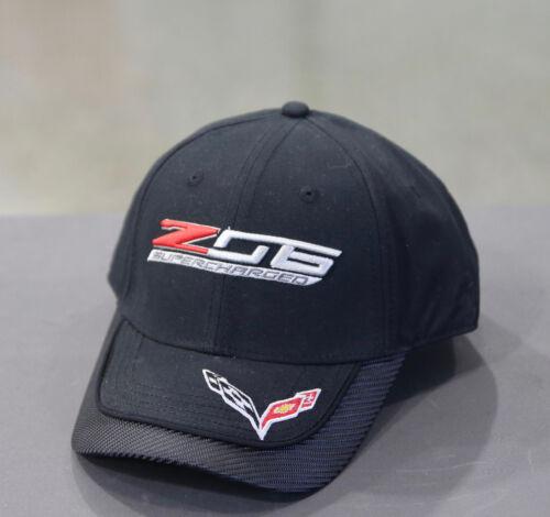 NC788 Men/'s Chevrolet Corvette ZO6 Supercharged noir de carbone et chapeau avec logo C6