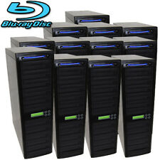 200 SATA Blu-ray CD DVD Disc Burner Daisy Chain Duplicator Multiple Tower Copy