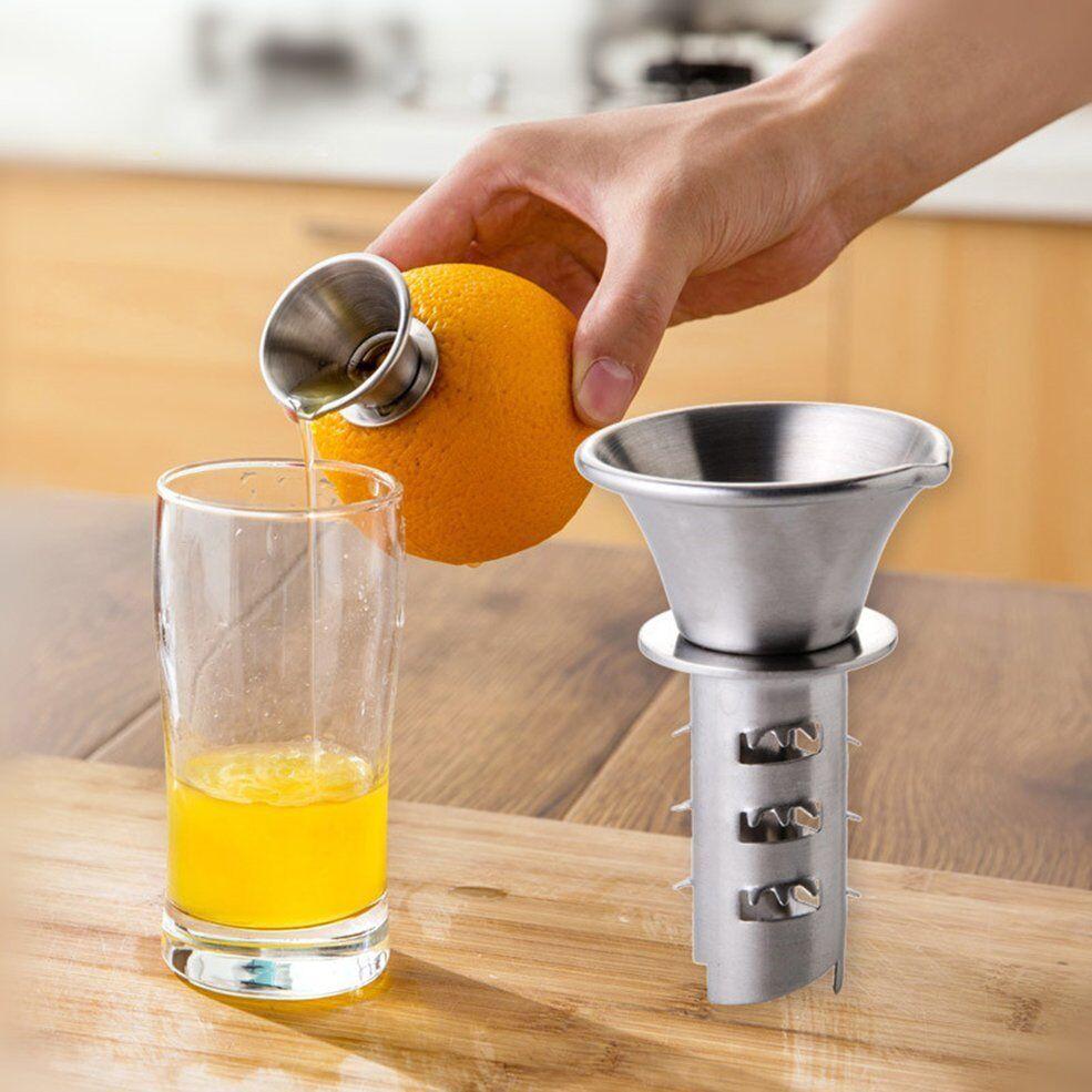 Details about Portable Stainless Steel Manual Lemon Squeezer Citrus Orange Juice Hand Juicer P