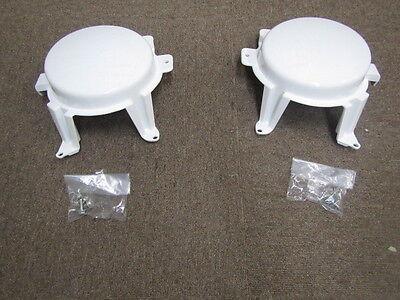 MITSUBISHI LANCER EVO4 RS CN9A WHITE FOG LAMP COVER SET  MR325615  MR325616  JDM