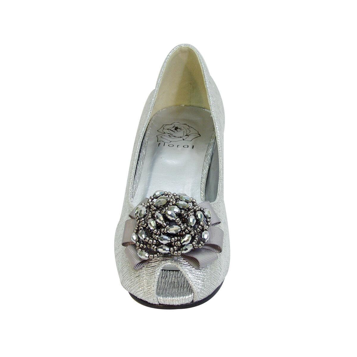 FIC FLORAL Allie Pump damen Wide Width Peep Toe Dress Pump Allie for Wedding, Prom, Dinner c4e5ff