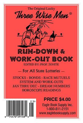 Original Lucky Three Wisemen Run-Down & Work-Out Book - Lottery Book | eBay