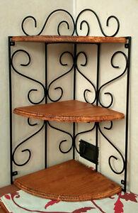 mensola-rustica-in-ferro-battuto-e-legno-libreria-parete-angoliera-nera-teak