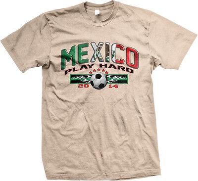 Mexico Play Hard Mexican Soccer Ball World Team 2014 Flag MEX Hoodie Sweatshirt