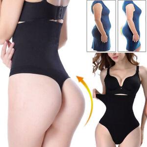 040e514d18 Women Boned Mid High-Waist Trainer Tummy Control Body Sexy Thong ...