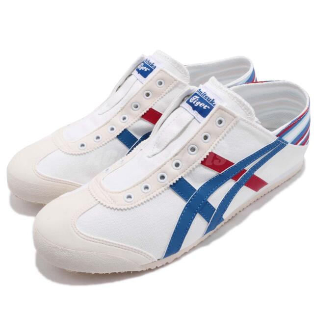 new product dce5a 654f3 Asics Onitsuka Tiger Mexico 66 PARATY White Blue Men Slip On Casual  TH6P4N-0142