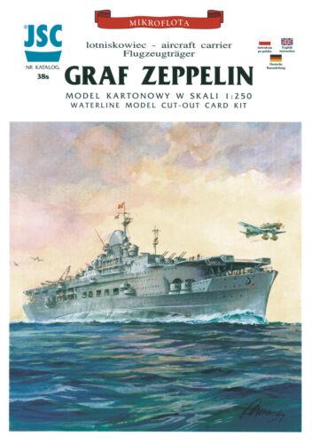 Flugzeugträger Graf Zeppelin 1:250 1:250 JSC Kartonmodell Exklusivmodell