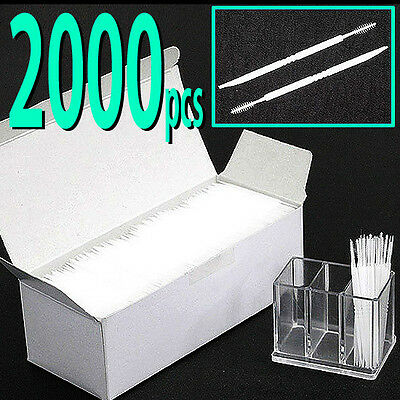2000pcs - 2 way Oral Dental Picks Tooth Pick Interdental Brush with CASE
