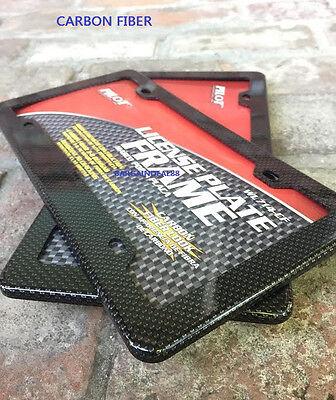 2X Black Carbon Fiber Custom License Plate Frames ABS for Car Truck VAN
