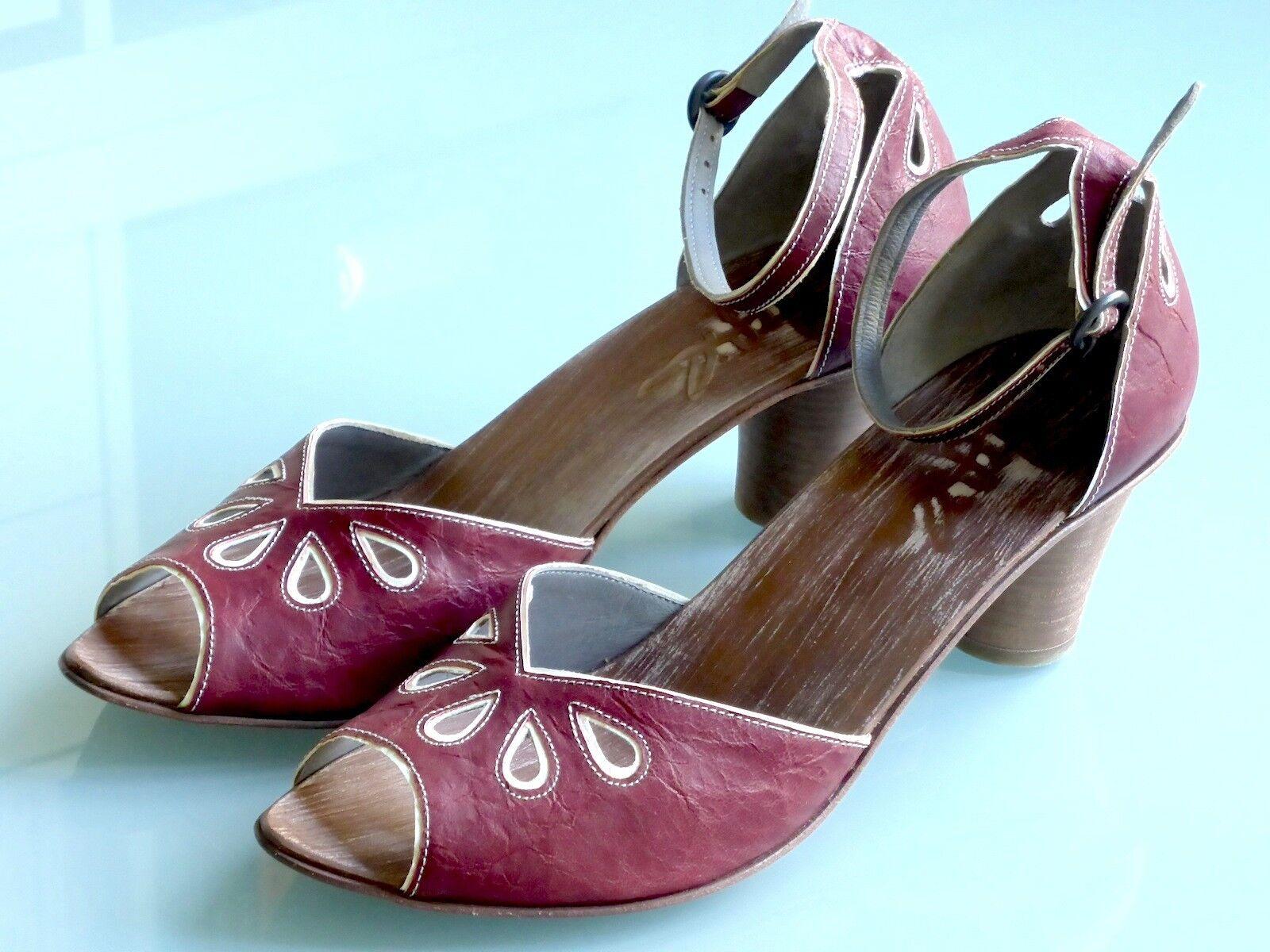 Argila by PEPE Monjo-pergami rouge Bride-Sandale, bordeaux, bordeaux, bordeaux, taille 41 NEUF c7658f