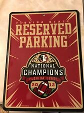 Florida State Seminoles Nation Championship Metal Sign 2013
