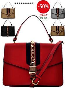 Dettagli su Borsa rigida Sylvie vintage tracolla spalla donna pelle media elegante catena