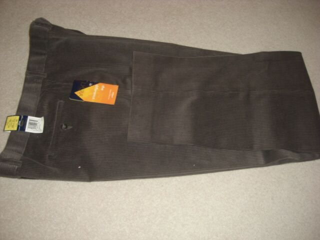 M & S MENS CORDEROY TROUSERS BROWN SIZE 38W - 33 LEG.
